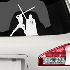 Star Wars Luke And Vader Lightsaber Fight Vinyl Decal Sticker Collectibles Collectibles Transportation