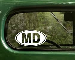 Md Maryland Decal 2 Oval Stickers For Car Truck Laptop Window Bumper Jeep 4x4 Ebay