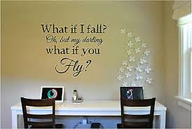 What If I Fall Quote Wall Sticker Vinyl Decals Art Home Decor Lettering Words Ebay
