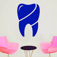 Dental Office Decorations For Kids Waiting Room Decor Pediatric Dentist Stickers Wall Decal Dental Hygienist Vinyl Set Of 4 Large Removable Decals Easy To Apply Wall Stickers Murals
