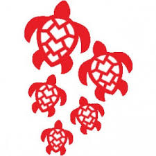 Turtle Stickers Flower Stickers Peace Stickers Hawaiian Island