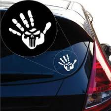 Hand Print Punisher Skull Decal Sticker For Car Window Laptop And Mor Yoonek Graphics