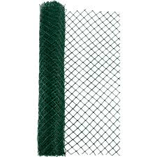 Everbilt 4 Ft X 50 Ft Green Heavy Duty Diamond Link Fence 14988 38 48 The Home Depot