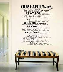 large wall art family bible quote decal bible verse serve and