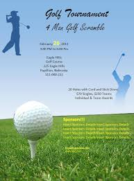 golf tournament poster template free