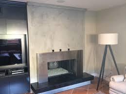 custon venetian plaster fireplace