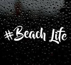 Beach Life Decal Logo For Car Van Beach Vinyl Sticker Funny Surf Instagram Vw Ebay
