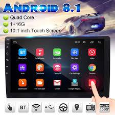 Máy Nghe Nhạc Đa Phương Tiện 10.1 ''Android 8.1 Dàn Âm Thanh Xe Hơi 2DIN  Bluetooth Wifi GPS NAV Quad Core Video Đài MP5 Người Chơi 