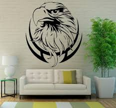 Eagle Wall Decal Bird Of Prey Vinyl Stickers Hawk Murals Etsy