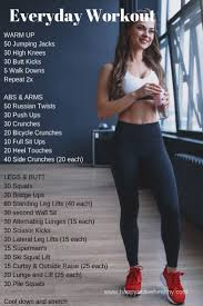 top daily workout plan at home strength