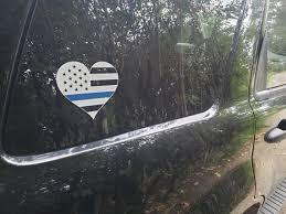Thin Blue Line Flag Sticker Police American Flag Flag Heart Etsy In 2020 Blue Line Flag Thin Blue Line Flag Blue Line
