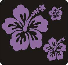 40 Lilac Hibiscus Flower Stickers Car Wall Bedroom Windows Decals Graphics Ebay