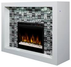 crystal electric fireplace mantel