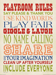 Amazon Com Playroom Rules By Stephanie Marrott Children Kids Room Print Poster 12x16 Solid Background Posters Prints