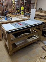 Shop Furniture Tablesaw Table Woodworking