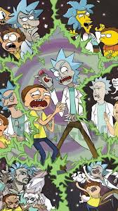 trippy rick and morty wallpapers