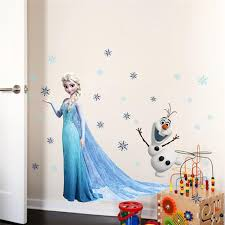 Cartoon Elsa Anna Princess Wall Stickers For Girls Room Home Decoration Diy Anime Mural Art Frozen Movie Poster Kids Wall Decal Shopee Shipee Yipee