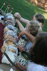Trail Mix Bar And Lots Of Other Camping Party Ideas Fiesta