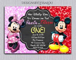 Mickey And Minnie Twin Birthday Invitation Twin Invitation
