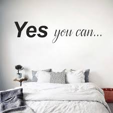 Yes You Can Wall Sticker Decal Motivation Quote Gym Wall Decoration Decals Office Home Decor Bedroom Wall Decals Fitness D117 Wall Stickers Aliexpress