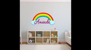 Custom Name Rainbow Wall Decal Nursery How To Apply Rb2 Youtube