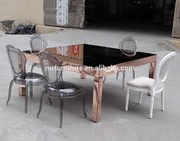 square mirrored dining table