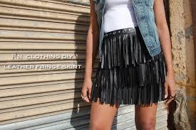 mood diy leather fringe skirt mood