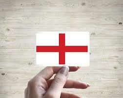 England Flag Sticker Etsy