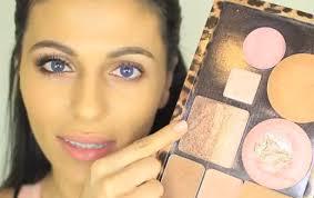 bronze makeup tutorial for blue eyes