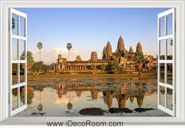 Collectibles Postcards Angkor Wat Cambodia Decal Sticker International Cities Towns Southeast Asia Zsco Iq