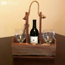 quick pallet wine holder for outdoor