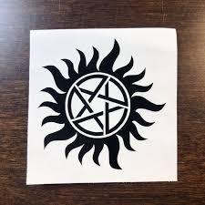 Supernatural Anti Possession Symbol Vinyl Decal Sticker Car Sam Dean Window