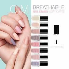 inglot o2m matte nail enamel breathable