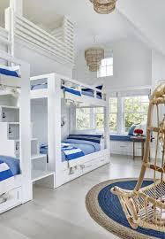 Cute Bunk Beds In A Coastal Kids Room Coastal Bedrooms Beach House Bedroom Beach House Decor