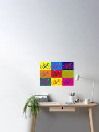 Bike Andy Warhol Pop Art Poster By Sher00 Redbubble