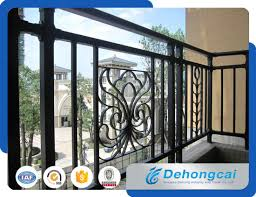 China Modern Decorative Wrought Iron Balcony Railing Designs Metal Balcony Railing China Railing Iron Railing