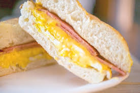 taylor ham egg cheese on a hard roll