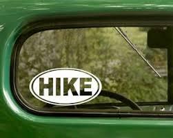 2 Hike Stickers Hiking Decal Walk Fitness Vinyl Truck Car Bumper Window Laptop Ebay