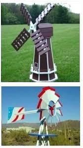 ornamental windmills for backyard