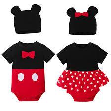 Bộ bodysuit một mảnh + nón hình chuột Mickey dễ thương cho bé sơ ...