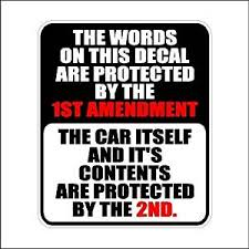 Buy The Words On This Decal Second Amendment Car Decal 2nd Amendment Sticker Laptop Decal 5 X 4 2 Printed Laminated In Cheap Price On Alibaba Com