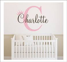 Princess Crown Wall Decal Girls Name Initial And Crown Vinyl Etsy In 2020 Girls Wall Stickers Neutral Wall Stickers Wall Vinyl Decor