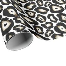 snow leopard print specialty gift wrap