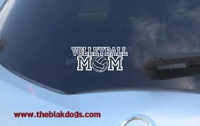 Volleyball Mom Dad Varsity Silhouette Vinyl Sticker Car Decal Blakdogs Vinyl Designs