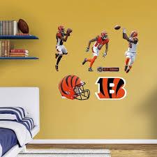 Fathead Nfl Cincinnati Bengals A J Green Hero Pack Wall Decal 12 21361 Cincinnati Bengals Wall Decals Bengals