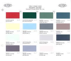 948 triumph herald colors
