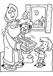 Sinterklaas Geeft Een Spelletje Cadeau Sinterklaas Kleurplaten