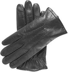 wool lined touchscreen leather gloves