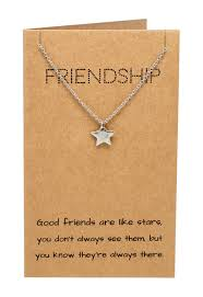ria best friend necklaces star pendant and friendship quotes