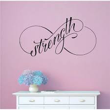 Winston Porter Infinity Strength Sign Symbol Vinyl Words Wall Decal Wayfair